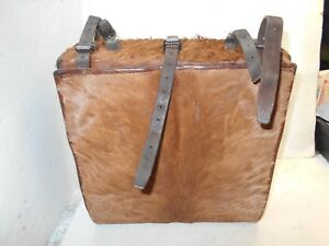 vintage leather horse hide briefcase backpack bags