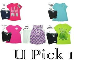 Under Armour Carter Tee Shorts Set Outfit Girls Top Bottom Shirt Youth 6 6x $18.00