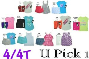 Under Armour Carter Nike Tee Shorts Set Outfit Girls Top Bottom Shirt Youth BTS