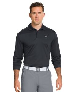 New Mens Under Armour Athletic Gym Rugby UA Infrared Long Sleeve Polo Top $35.90