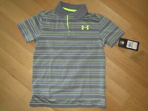 NWT Under Armour Golf Polo Shirt Youth S Heat Gear Loose Fit MSRP $39.99