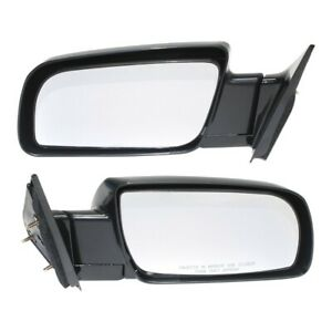 Manual Black Side Mirrors Left LH amp; Right RH Pair Set of 2 for Pickup Truck