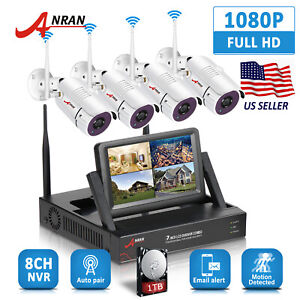 1080P 4CH Wireless Security Camera System WIFI NVR 7