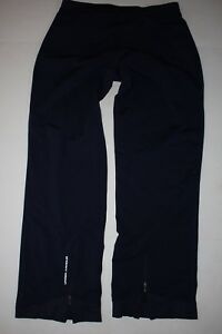 Under Armour Women's Blue Track Pants Spell Out  Large Zip Pant Bottoms Straight