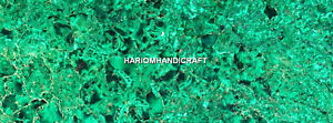 Green Mable Dining Side Table Top Malachite Light Inlay Stone Art Decorate H5614