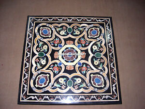 Marble Table Top Inlay Decorative Design Handcarved Mosaic Stone Art Decor H3489