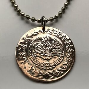 1831 Ottoman Turkey 20 para coin pendant Turkish Tughra empire Istanbul n002279