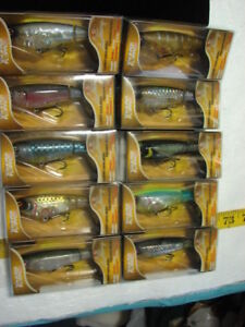 Lot of 10 Different Color Whopper Plopper 90 Topwater Lures NIB *