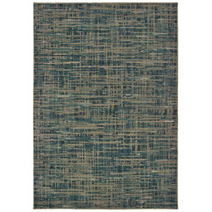Sphinx Blue Crosshatch Basketweave Lines Contemporary Area Rug Geometric 5503D