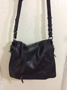 Jerome Dreyfuss Albert Crossbody Bag Black Leather Adjustable Strap Roomy