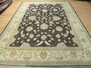 8x12 Persian Antique Design Museum Handmade-knotted Wool Oriental Rug 581358