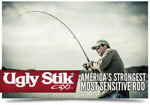 GX2 Ugly Stik 6#x27;6quot; Medium Shakespeare USSP662M Spinning Rod Rod Only