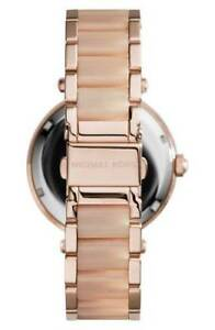 Michael Kors Women's Pave Dial Stainless Steel Bracelet Watch - Rose Gold