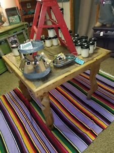 furniture table all wood rustic style