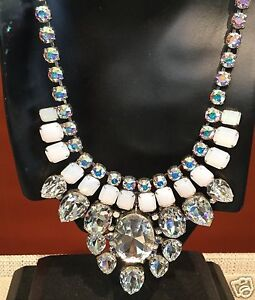 SORRELLI  WHITE BRIDAL COLLECTION  Statement Necklace