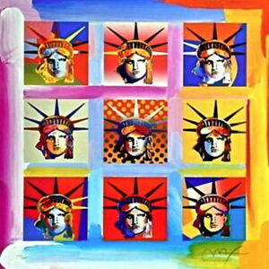 Nine Liberties Limited Edition Lithograph Peter Max - SIGNED w COA