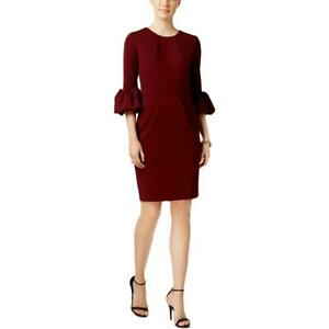 Betsy & Adam Womens Bell Sleeve Above Knee Party Cocktail Dress BHFO 4982