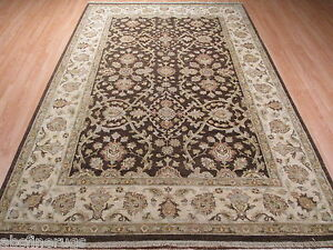 6x9 Museum Design Allover-Pattern Vegetable Dye Handmade-knotted Wool Rug 582985