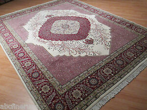 8'6x10 PERSIAN Fine Kirman Intricate Antique Design Hand Knotted Wool Rug 580931