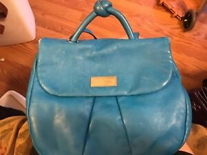 Marc Jacobs Turquoise Leather Backpack Purse