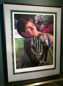 FRAMED FRED COUPLES AUTOGRAPHED LIMITED EDITION LITHOGRAPH BY DANNY DAY