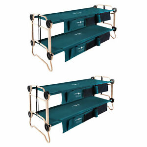 Disc-O-Bed Large Green Cam-O-Bunk Cot (2 Pack)