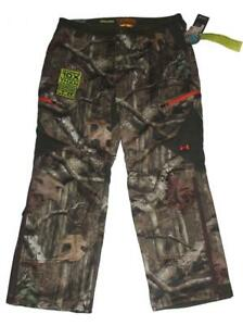 Under Armour Cold Gear MOSSY OAK Camo Scent Control Pants Mens 40x32 NWT $180