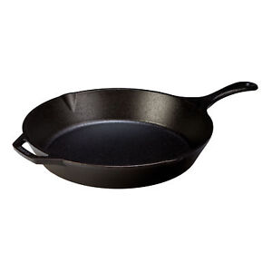 Lodge L12SK3 13.25 Inch Pre-Seasoned Cast Iron Skillet Pan with Assist Handle