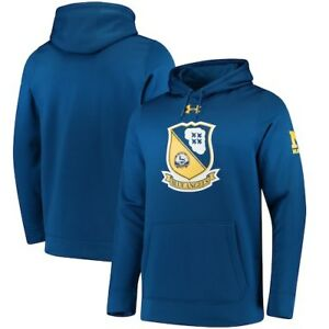 Navy Midshipmen Under Armour Blue Angels Crest Armour Fleece Pullover Hoodie -