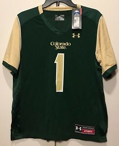 New $65 Colorado State Rams YOUTH Under Armour Boy JERSEY #1 Size YL Loose Large $18.69