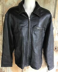 Coach Leather Jacket Black Size Large Mens Lined