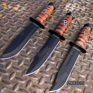 12quot; MILITARY USMC Tactical Fixed Blade Hunting Knife w Comfortable Grip