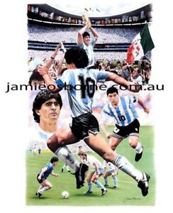 Maradona World Cup Original Artwork by Jamie Osborne