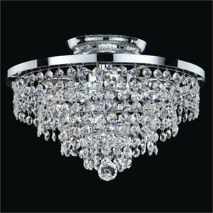 Glow Lighting 628AC13SP-7C Vista 13 in. Traditional Empire Crystal Flush Mount
