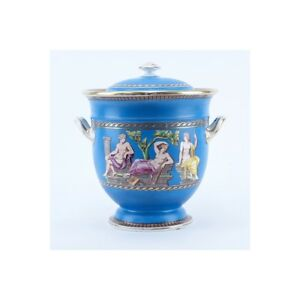 Antique Minton Turquoise and Gilt Handled Covered Tureen
