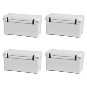 Engel 18.5 Gallon 80 High Performance Roto Molded Cooler White (4 Pack)