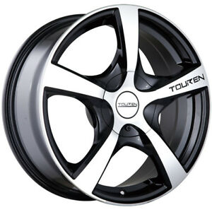 New 16 (16x7) Touren TR9 4x1004x114.3 +42mm BlackMachined Wheels Rims