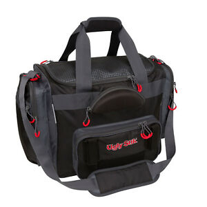 TORG Shakespeare Ugly Stik Large Fishing Tackle Bag w Shoulder Straps Black