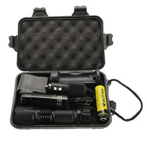 2000010000Lumens Zoomable LED Flashlight Torch 18650 Lamp Camping Light