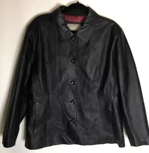Croft & Barrow women's black leather jacket plus sz 1X  **Never worn?**