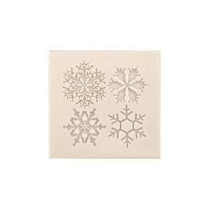 Snowflake Fondant Cake Mold Soap Chocolate Candy Mould Silicone DIY Decorating S $1.56