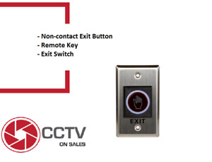 Access Control Infrared Sensor Non Touch Request to Exit Button Door Release