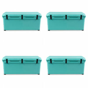 Engel 123 High Performance Durable Roto Molded Airtight Teal Cooler (4 Pack)