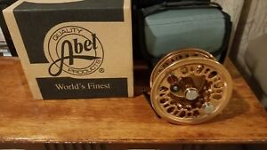 Abel Super 12X Large Arbor Fly Reel Copper Never Fished Never had line on it.