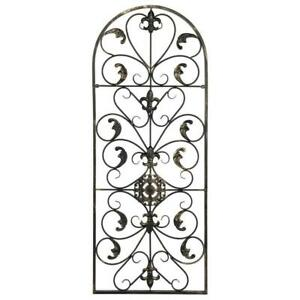 Large Tuscan Wrought Iron Metal Wall Decor Rustic Antique Garden Indoor Outdoor $28.95
