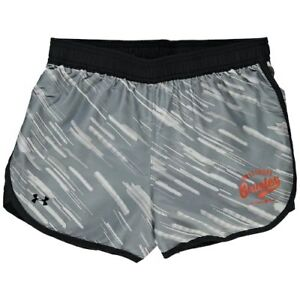 Baltimore Orioles Under Armour Girls Youth Fast Lane Performance Shorts - Black