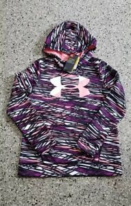 New Under Armour Storm Youth Girls Water Resistant Camo Sweatshirt Hoodie Large