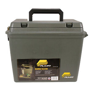 Plano Magnum FieldAmmunition Box with Life Out TrayDividers Olive Drab Green