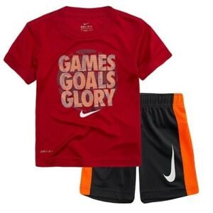NWT TODDLER BOYS NIKE DRIFIT UNDER ARMOUR HEAT GEAR SHORTS OUTFIT SIZE 3T