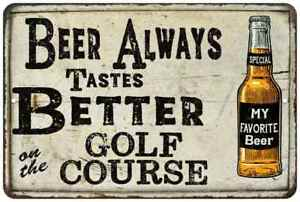Beer Better on the Golf Course Vintage Look Chic Distressed 108120020143